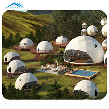 Top sale glamping dome tent geodesic domes with bathroom