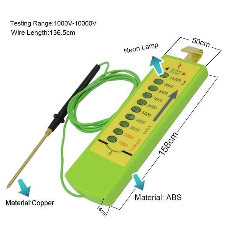 TOPSALE Probador de Voltaje de Cercas Cercas Agr/íColas Energizador Solar El/éCtrico