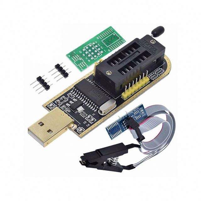 Smart Electronics CH340 CH340G CH341 CH341A 24 25 Series EEPROM Flash BIOS USB Programmer with Software & Driver
