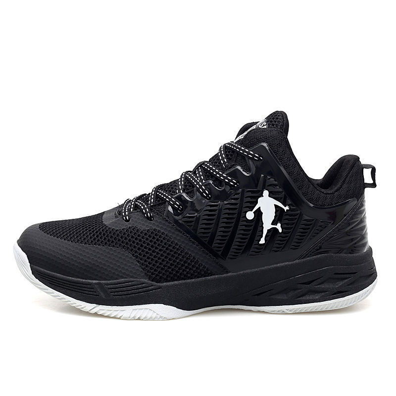 China good quality durable basketball running athletic man sports shoes in black