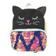 Wholesale cheap personalized fashion children cute girls kitty shining school bag reversible sequin mini backpack for kids