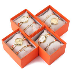 Bracelet Watches Set Female High Quality Quartz Watch Luxury New Mother's Day Gift Set Box From Daughter Or Son