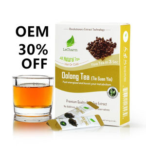 Authentea Oolong thee private label instant thee Osmanthus Platte tummy detox kruiden chai thee poeder voor Afslanken gewichtsverlies