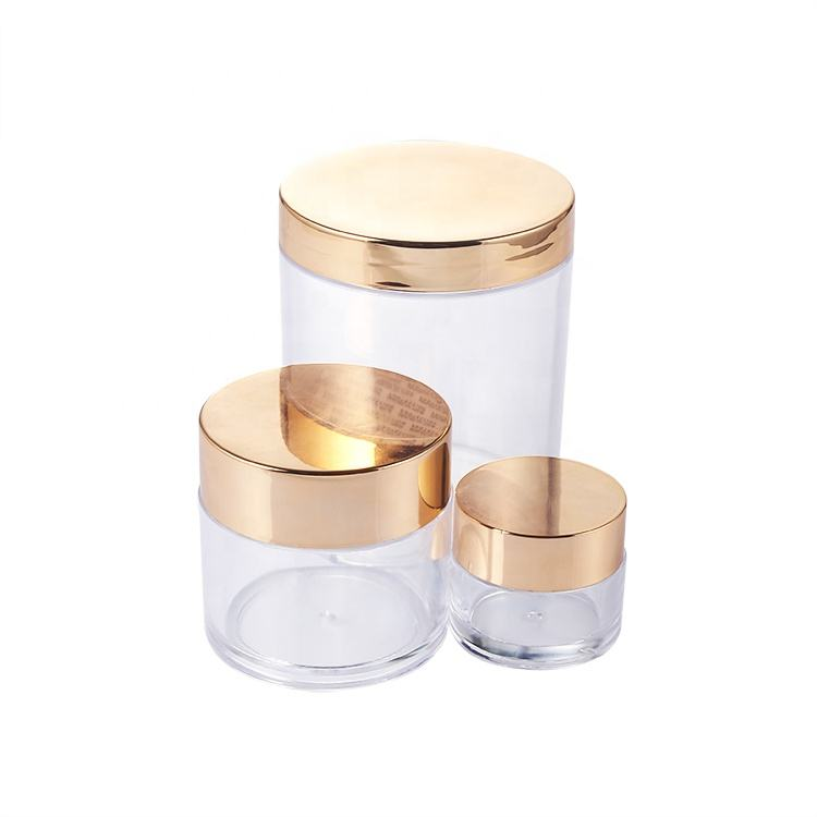 Empty PS Cosmetic Packaging and Containers Plastic cosmetic jar for cream, dipping powders
