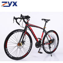 China OEM bicycle bulk 700C 21 Speed steel frame flat bar Disc brake adult touring bike adult road racing bicycle OEM road bike