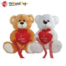 custom design wholesale teddy bear with heart stuffed toy Valentine's Day gift