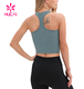 Customized Wholesale Athletic Women Workout Yoga Vest Custom Blank Sport Fitness Racerback Crop Top Girls Gym Training Tank Top