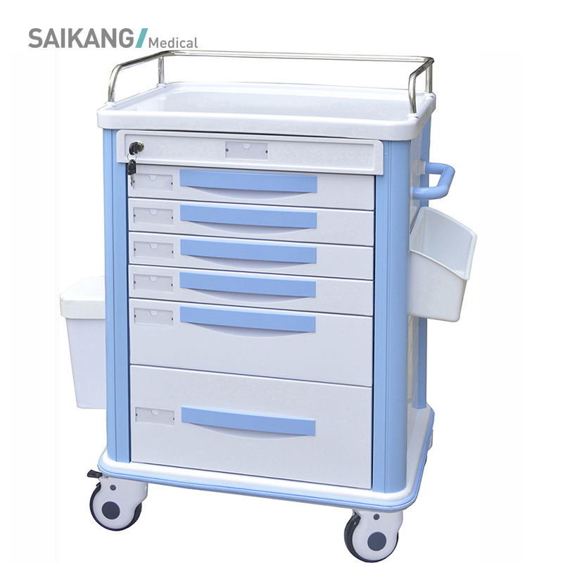 SKR039-MT ABS Hospital Anesthesia Customized Medicine Instrument Trolley