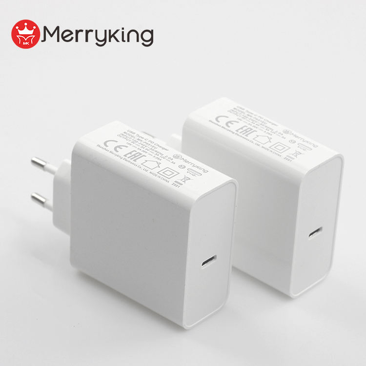 2020 Nieuwe Product Eu Plug 5V 9V 12V 15V 20V PD3.0 Wall Charger Type C pd Fast Charger 65W