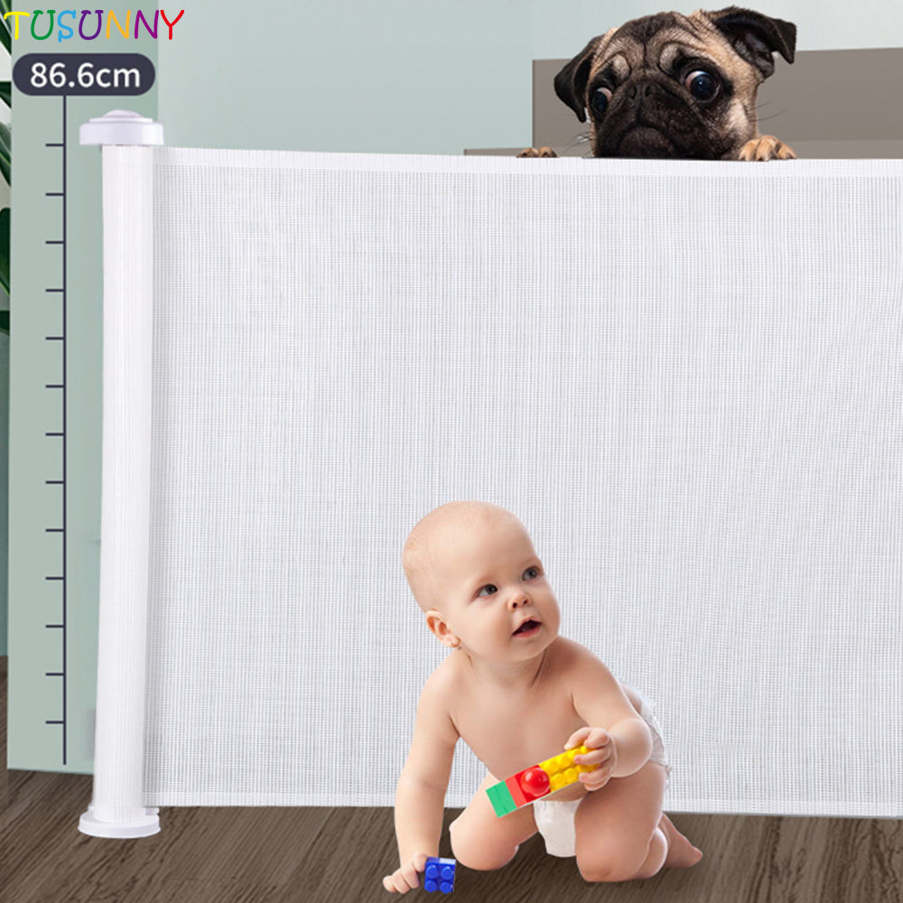 baby online baby safety mesh gate Child Safety retractable Baby Gate