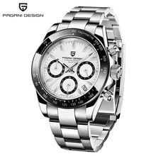 PAGANI DESIGN PD-1644 Luxury Watch For Men Stainless Steel Quartz Relogio Masculino Mens Watches Silver