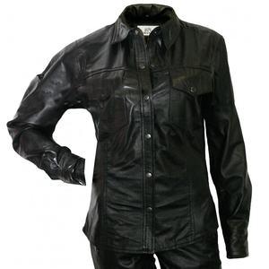 QWY Los Hombres Ocasionales de la Camisa de Vestir de Piel