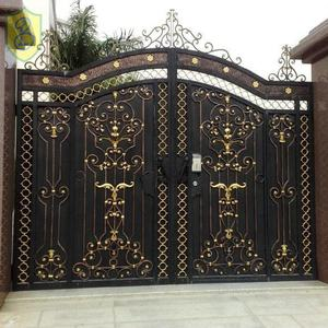 wrought iron entry door double main garden steel gate door