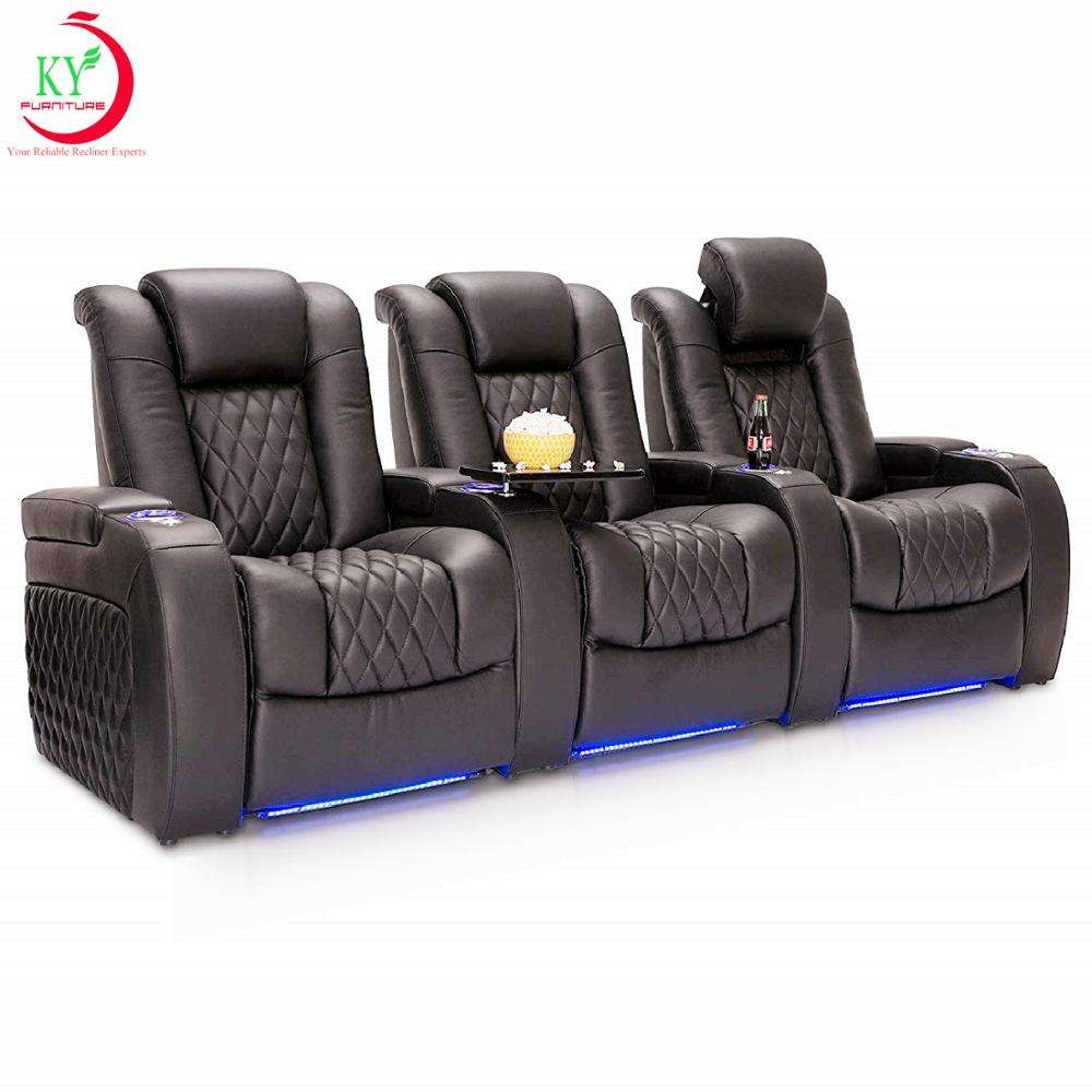 JKY furniture Easy And Convenient Multifunctional Home Theater Movie VIP Seating Sectional Cinema Recliner Sofa