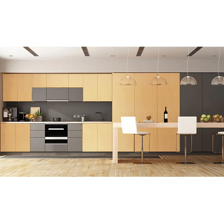 Japanese colorful natural wood thin kitchen wall sticker decorations for kitchen
