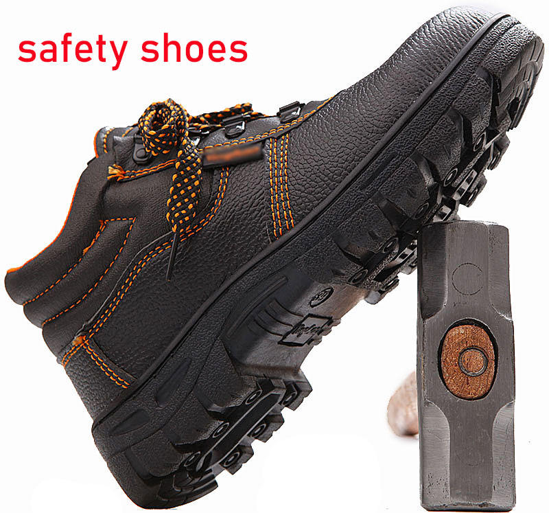 USD3-5 CHEAP wholesale steel toe cap construction men work working industrial safety shoes safety boots with plate for man