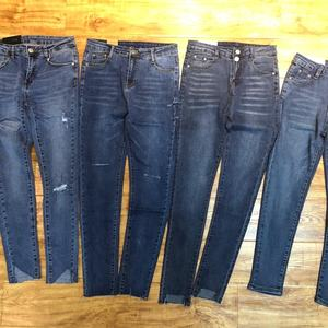 GZY overstock liquidation ladies jeans factory overruns slimming jeans surplus garments