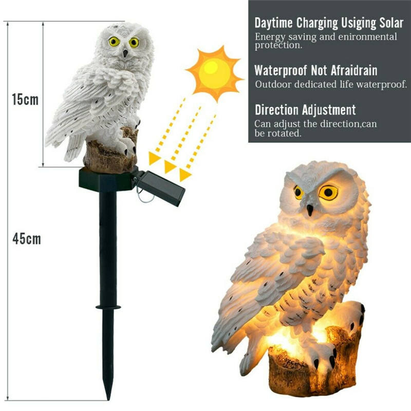 Led Solar Power Outdoor Garden Waterproof lighting Night Lights Owl Shape Energia Lamp Owl Stake Lawn Light decoration