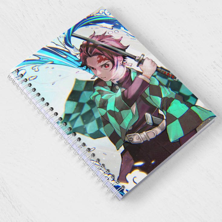 Office Book For Student Demon Slayer Kimetsu no Yaiba Cartoon Q-version Stationery Anime Paper Notebook