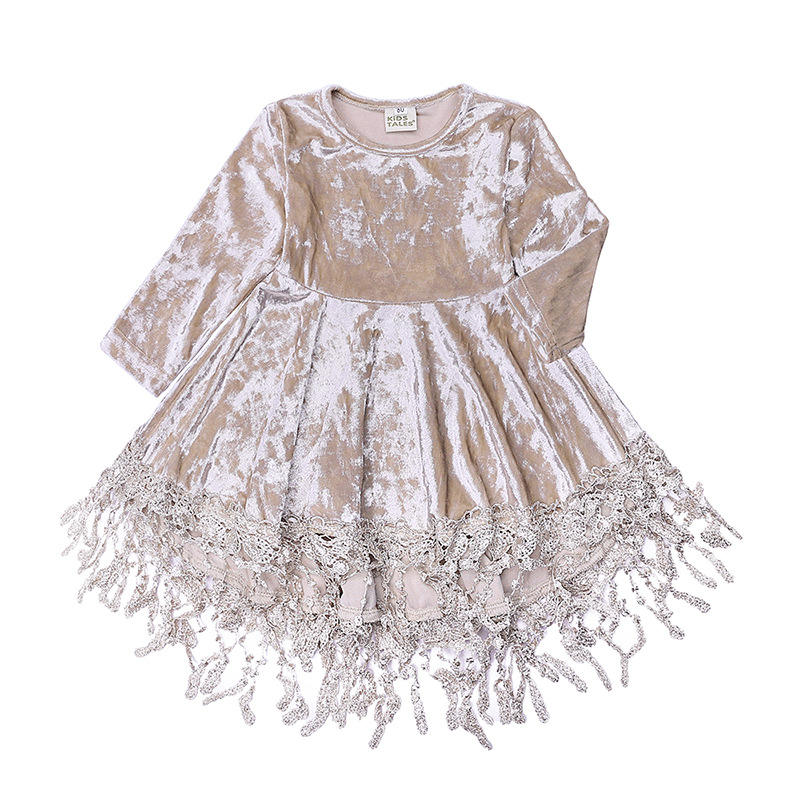 New arrival spring autumn reliable long sleeve princess wholesale boutique clothing children kid girl 1 year baby angel dress