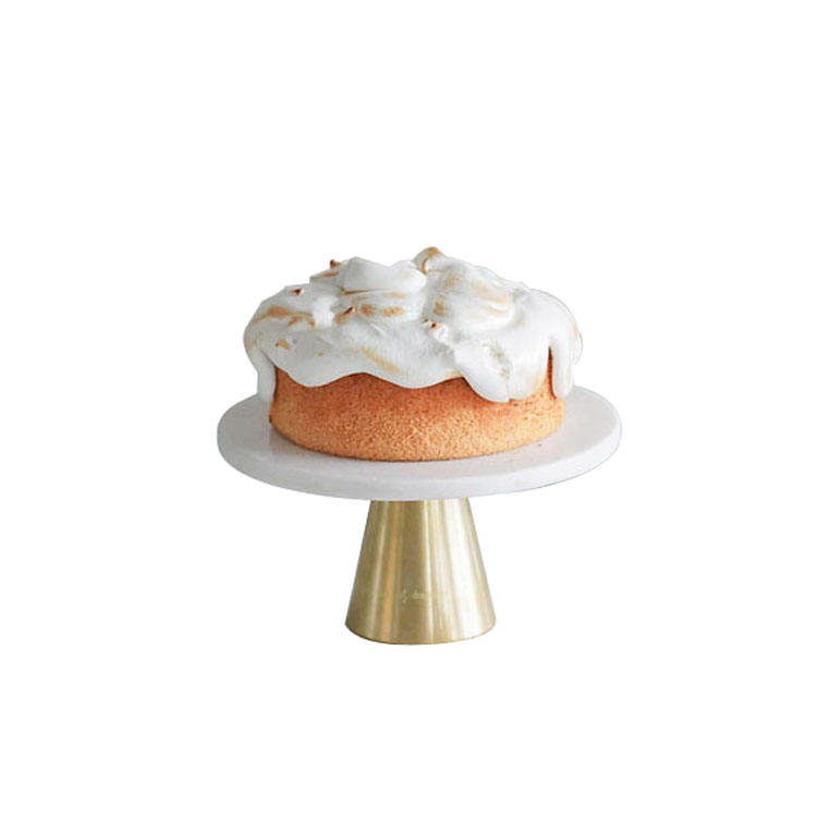 Hot Selling Cake Holder Wedding Metal Base Marble Top Cake Stand
