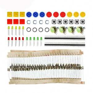 A20-Handige Draagbare Weerstand Kit voor arduino Starter Kit UNO R3 LED potentiometer tact switch pin header
