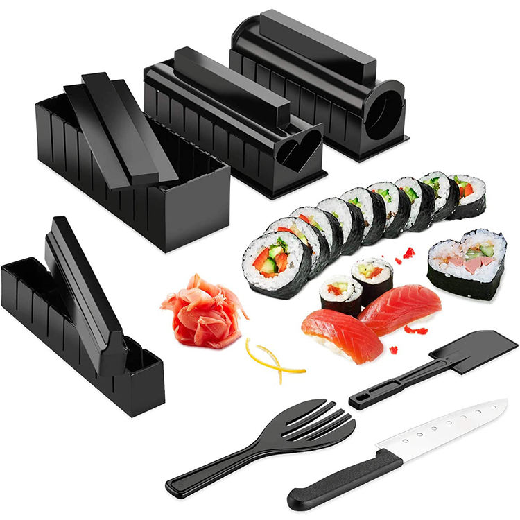 10 Pieces No-stick Professional Sushi Making Kit,Eco-friendly Kitchen Sushi Tray