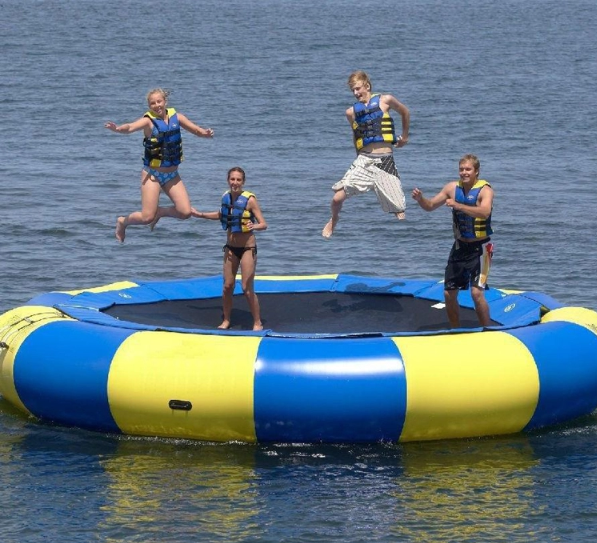 Trampoline Inflatable Popular Inflatable Trampoline Children Water Trampoline Bungee Jumping Equipment For Sale Inflatable Sports Game