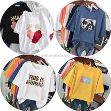 Wholesale 100% Cotton T-shirts For Women High Quality Fashion Cheap Loose Clothing