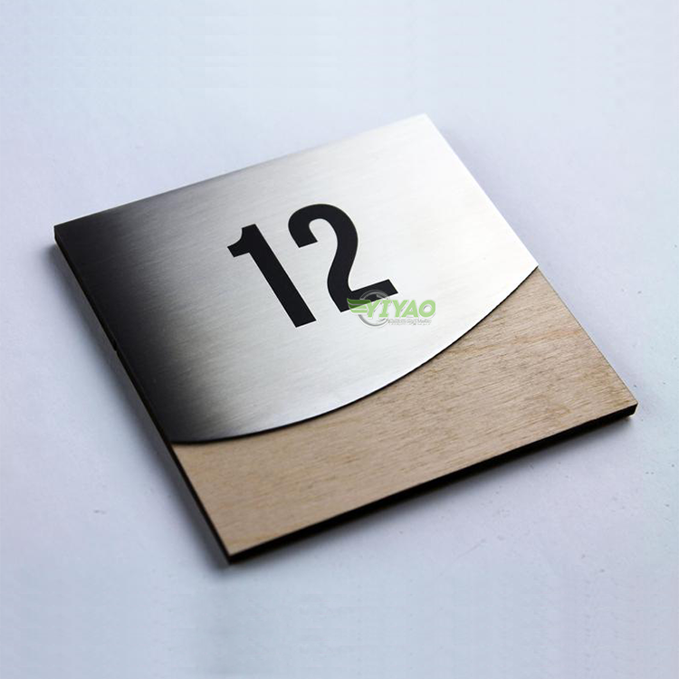 stainless steel metal signage all size hotel door room number sign plate