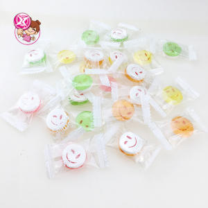 fruity flavor transparent hard candy sou rpress candy with expression design