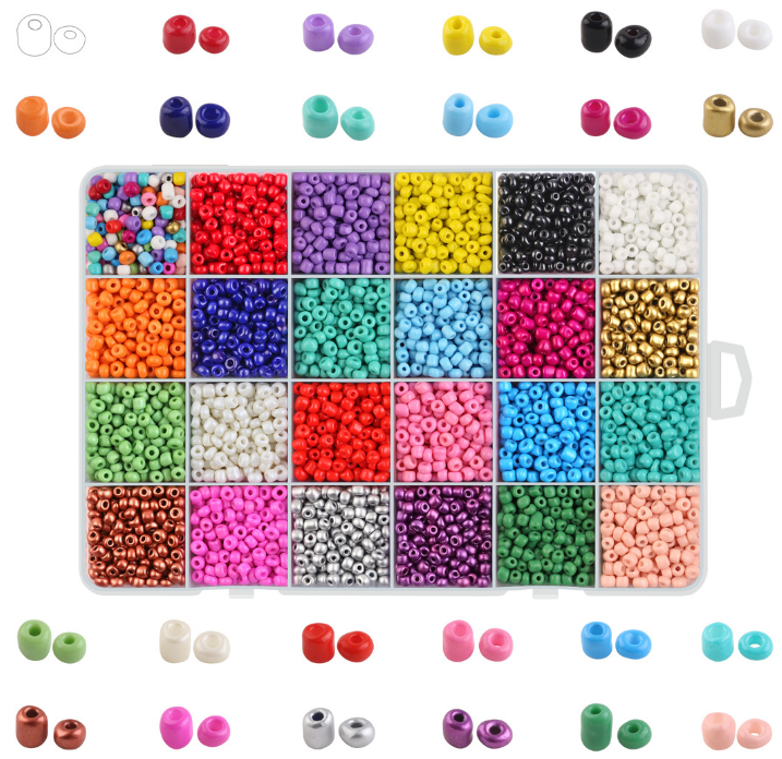 Factory Directly 6/0 8/012/0 Glass Seed Beads In Bulk, colorful Seed Beads Wholesale