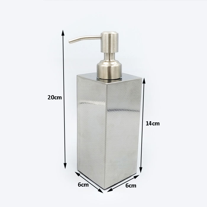 350/400ml square shape special surface empty stainless steel shampoo bottle shower gel lotion detergent bottle