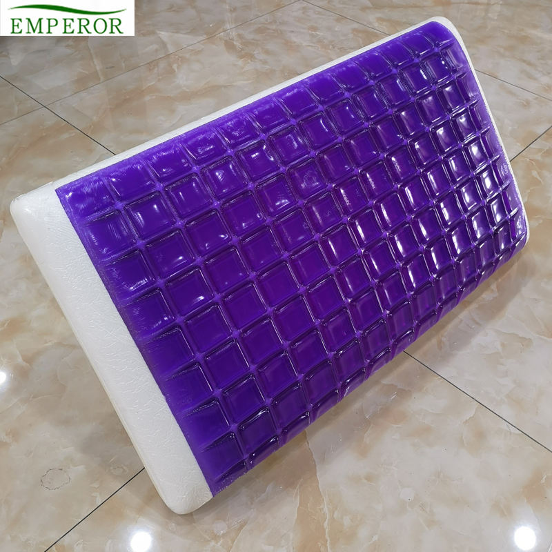 OEM factory wholesale supplier summer cooling luxury king size head support relief custom memory foam pillow gel