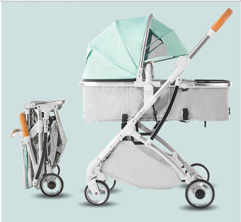 Aluminium alloy lightweight baby stroller good quality folding baby carriage