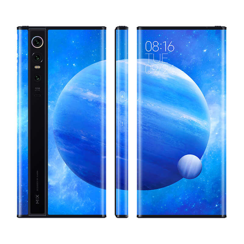 "Asli Xiaomi MixAlpha 12GB 512GB Snapdragon 855Plus 7.92 ""1080P OLED 100MP Super Unggulan Triple Kamera 5G Ponsel"