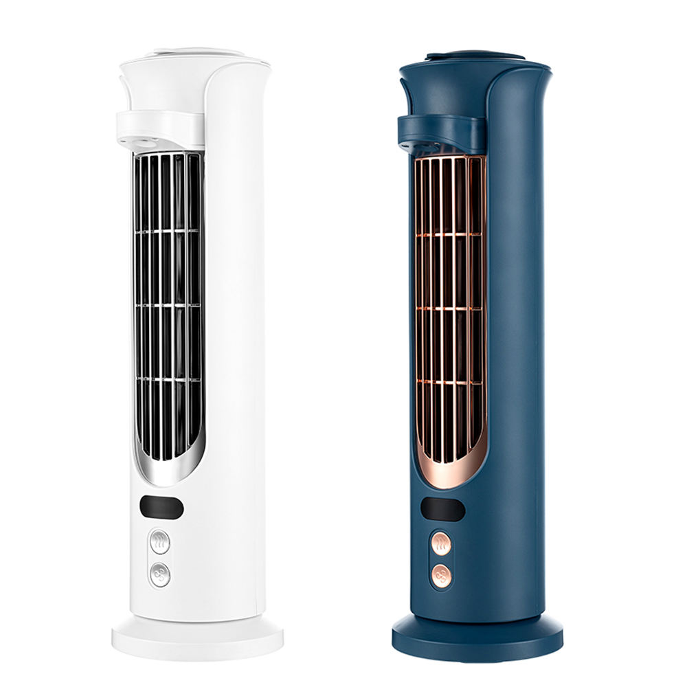 2021 Home Portable 120Ml Water Mist Humidifier Air Cooler Fan Office Lcd 4000Mah Usb Rechargeable Bladeless Cooling Tower Fan