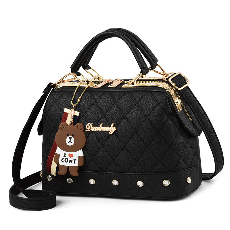 2019 Latest Design PU Material Fashion Satchels Style Women Bear Shoulder Bags Lady Hand Bags