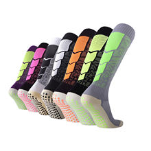 TY-0958 Team sports Antislip grip men long football socks non anti slip crew knee high breathable soccer socks for men
