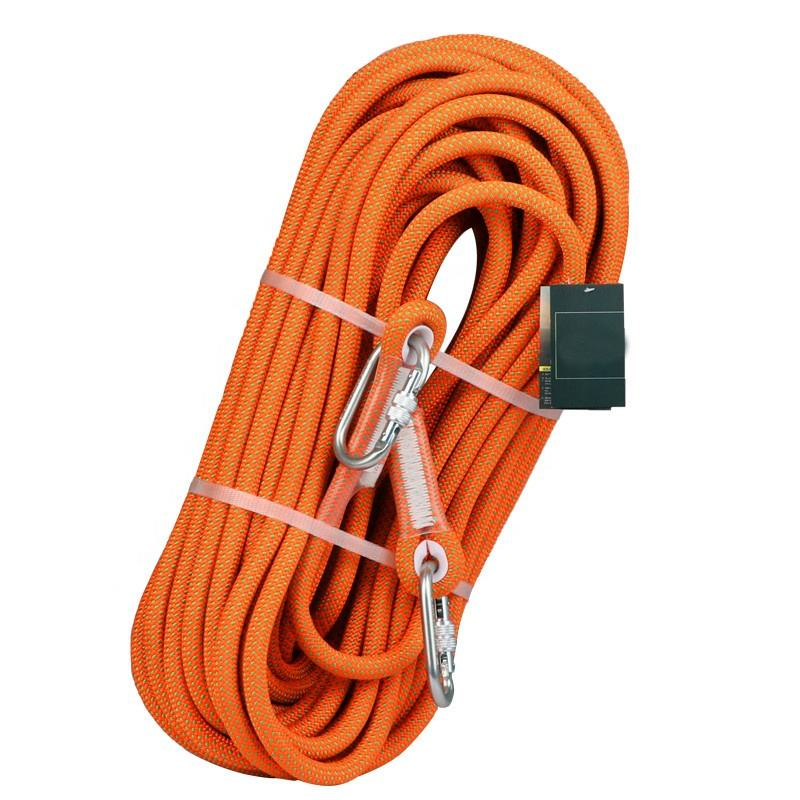 Aerial work safety rope orange yellow and black harness safety rope access