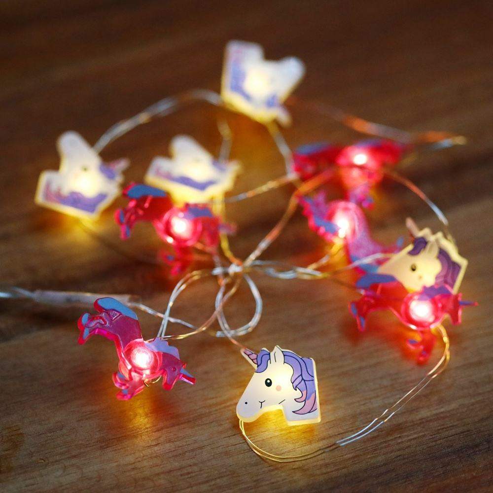 unicorn shaped fancy mew dreamlike 10 led indoor flexible led string light