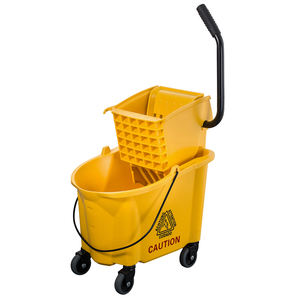 Commercial 36l plastic mop wringer cleaning bucket with wheels