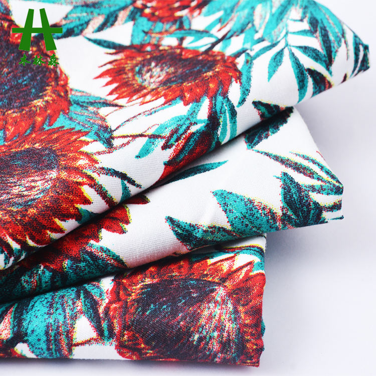 Mulinsen Textile Hot Sale 100%Polyester Twill Microfiber Peach Skin Fabric Print for Garment