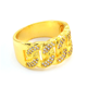 European and American hot style hip-hop jewelry men's Diamond inlaid ring