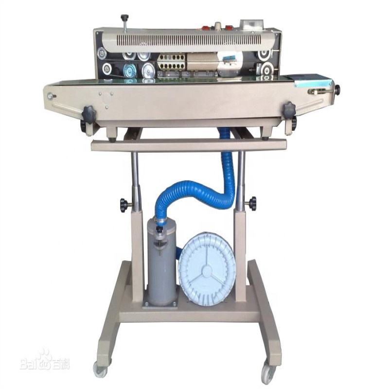 Vertical Snack Packing and Sealing Machine,Gas Filling Continuous Band Sealer