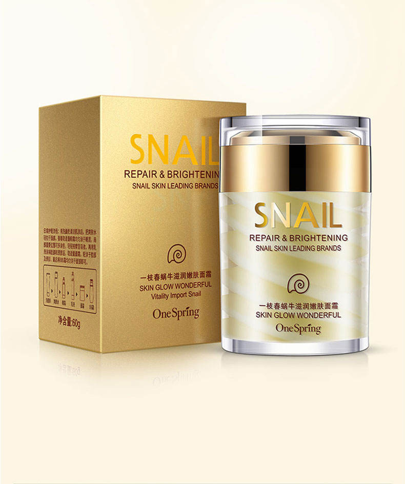 One Spring best moisturizing face whitening snail face bright cream for skin care