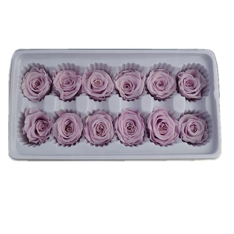 신제품 3 4 cm 보라색 보존 영원한 영원히 장미 꽃 자연