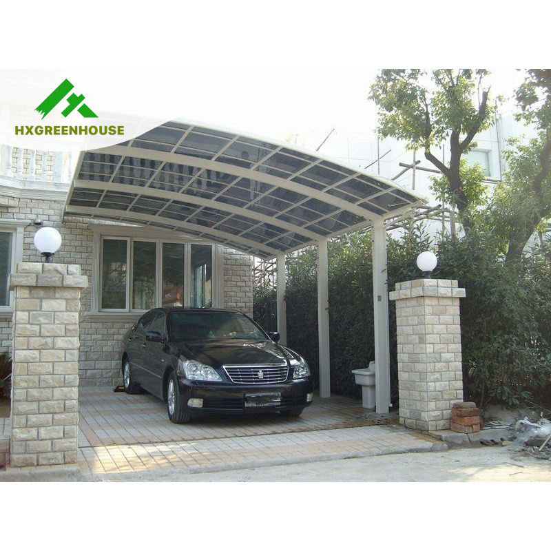 High ranking rust-proof aluminum frame polycarbonate covering carport canopy