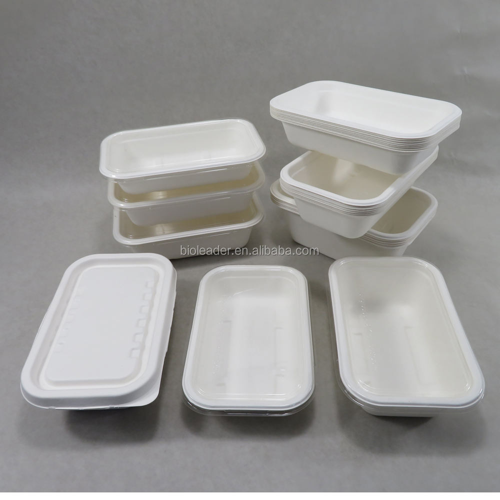 Packaging Customization [ Fiber Pulp ] Pulp Tray Biodegradable Compostable Sugarcane Bagasse Fiber Pulp Tray