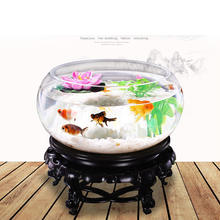 Fish tank with pearls Custom Acrylic Wall Mount Hanging mirror Fish Bowl Aquarium Tank Beta Goldfish Hanger Plant